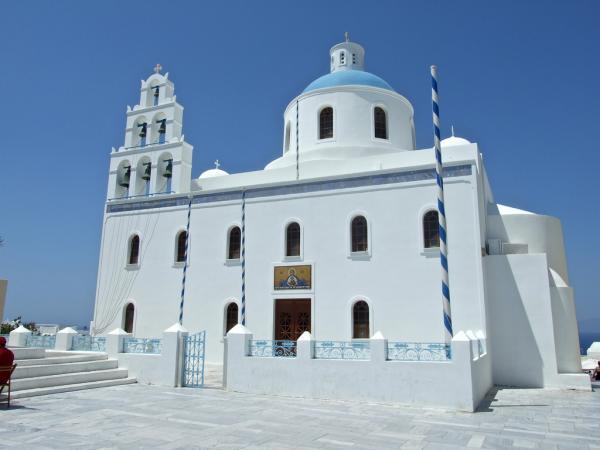 Cathedrale d'Oia sur l'île de Santorin